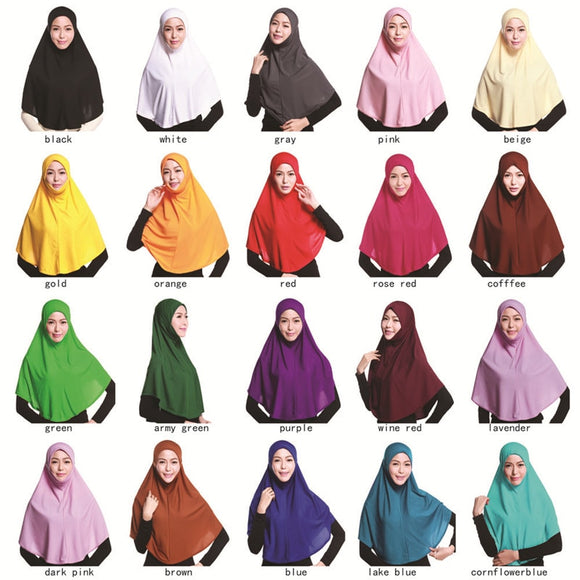 20 kleuren ghimar hijab 80cm - Ever After Eden