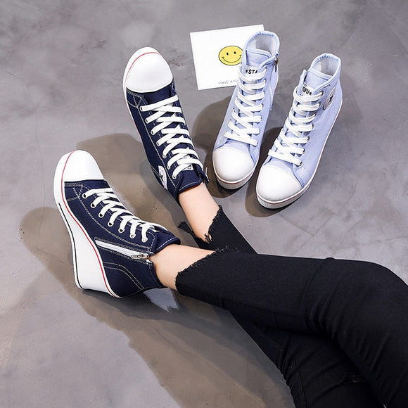 5 Kleuren casual sleehak sneakers - Ever After Eden