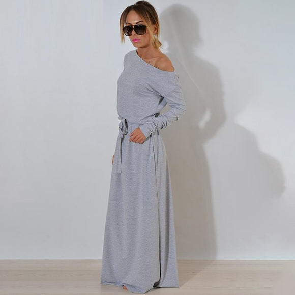 Casual lange maxi jurk vloer lengte - Ever After Eden