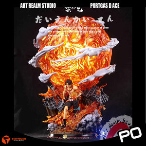 Art Realm Studio - Portgas D Ace Painted