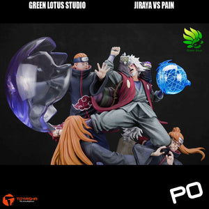 Green Lotus - Jiraya vs Pain