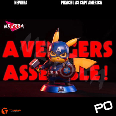Newbra Studio - Pikachu as Captain America