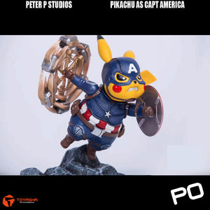 Peter P Studio - Pikachu as Captain America