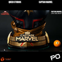 Load image into Gallery viewer, Queen Studios - Captain Marvel Lifesize Bust