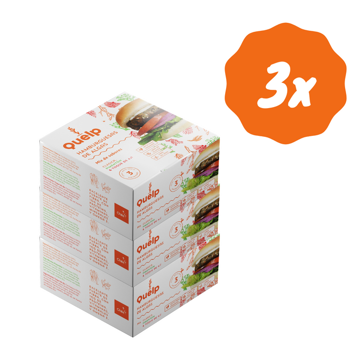 3x Mix Hamburguesas de Algas (9 unids)
