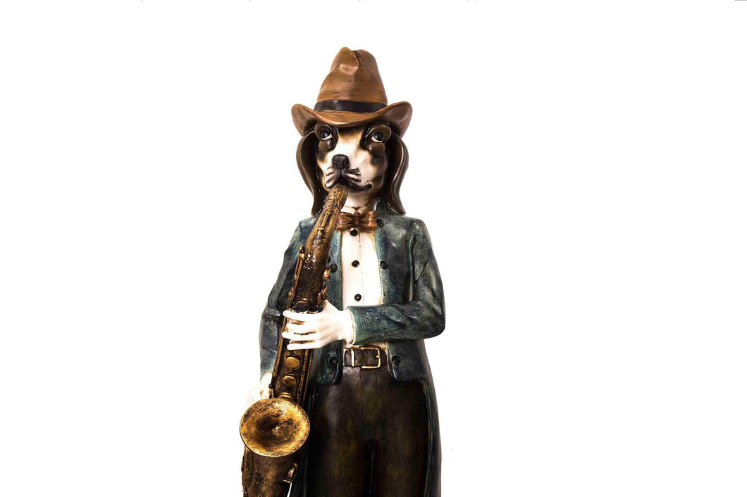 Bourbon Street Dog Band Figurine
