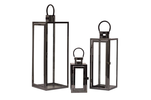 Contemporary Lantern - Black