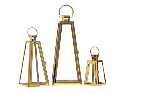 Triangle Metal Lanterns