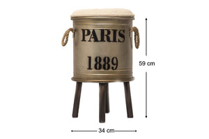 Paris 1889 Decor Drum - Copper