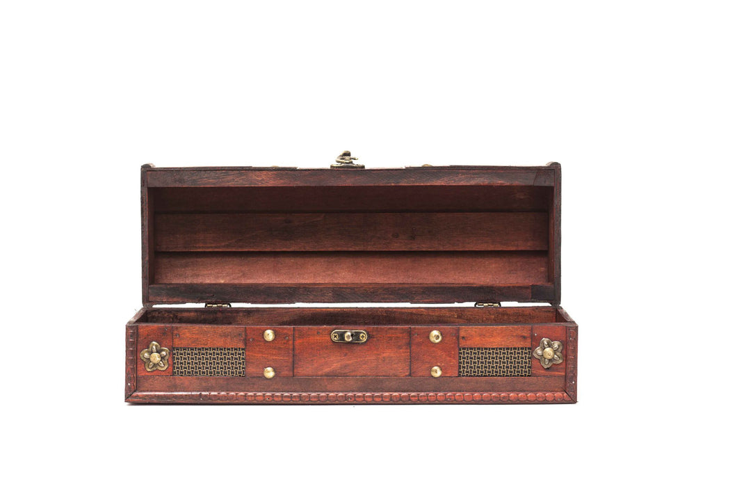 Vintage Briefcase Brown - Wine Box