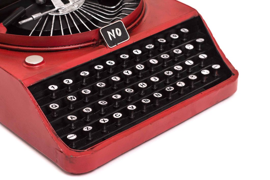Antique Typewriter Decoration - Red