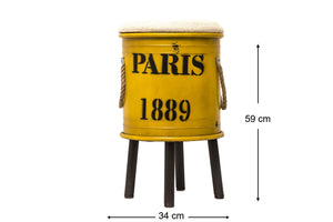 Paris 1889 Decor Drum - Mellow Yellow