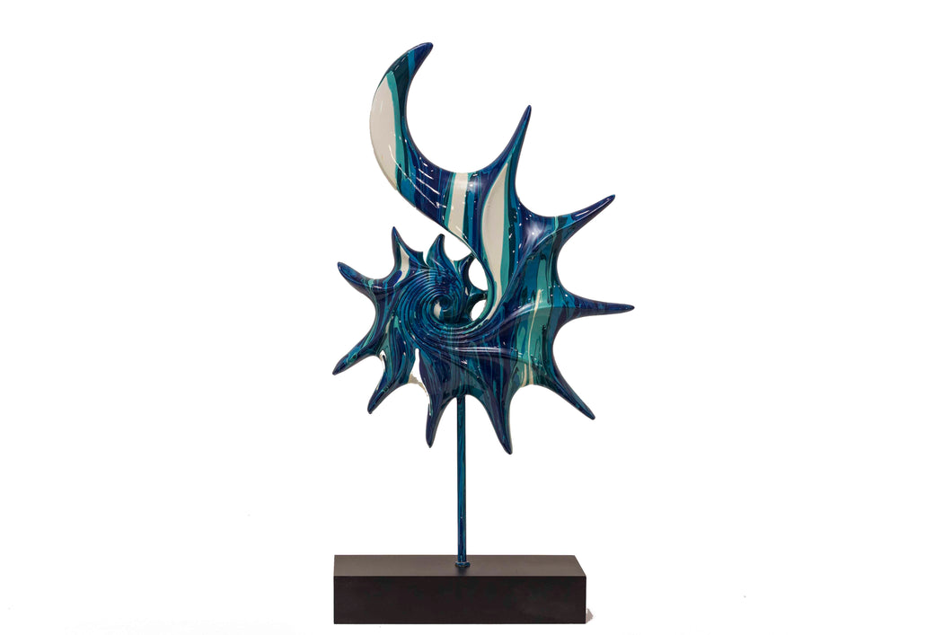 Abstract Showpiece - Marble Blue