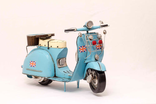 Blue Vintage Scooter Collectible