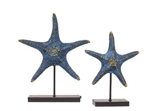 Star Fish Sculpture - Set of 2