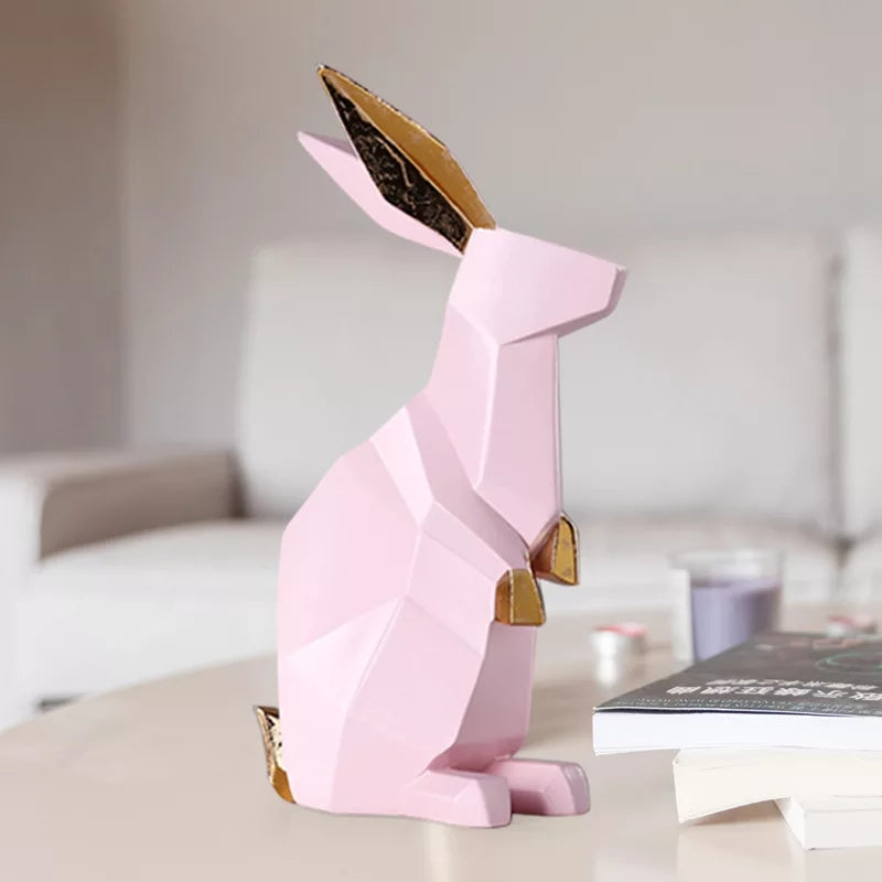 Geometric Peppy Rabbit Pink