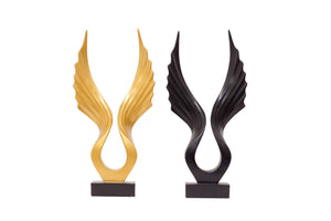 Abstract Retro Wing Figurine