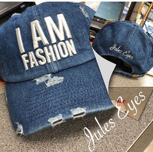I AM FASHION Denim Baseball Cap