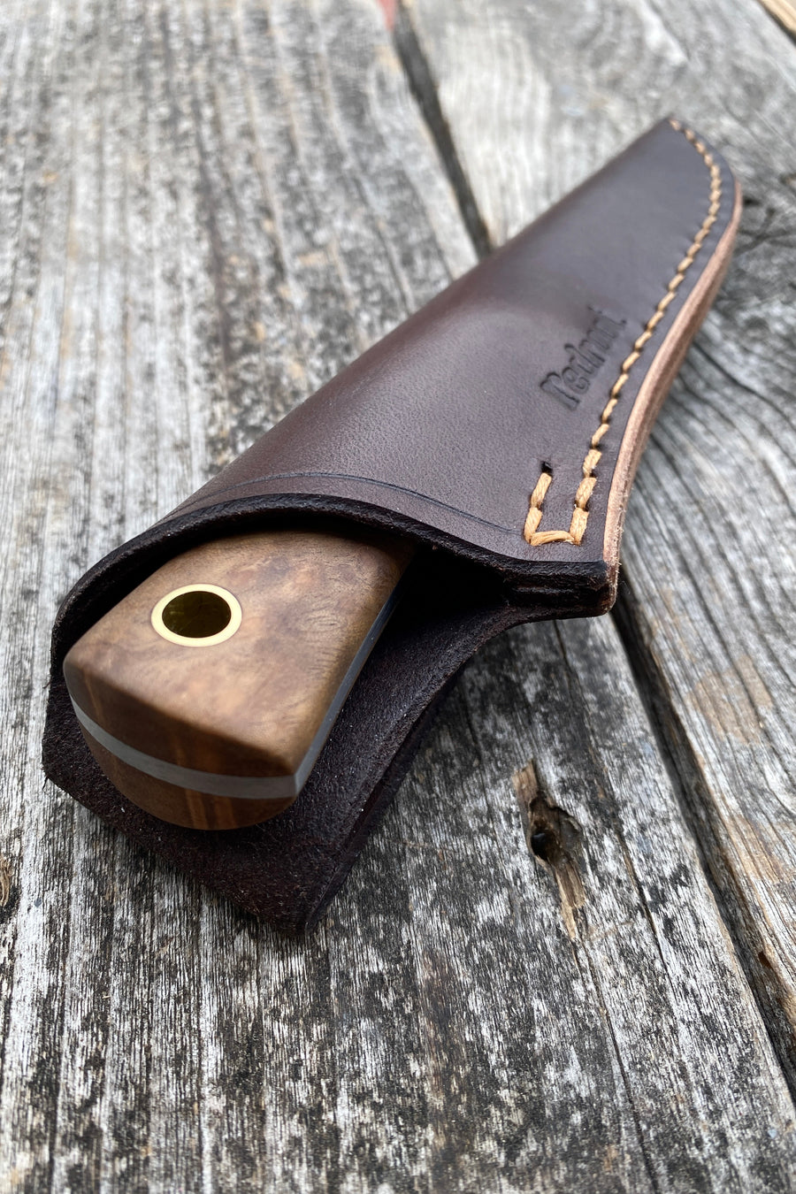 Mountain Scout Knife — Madrone & brass