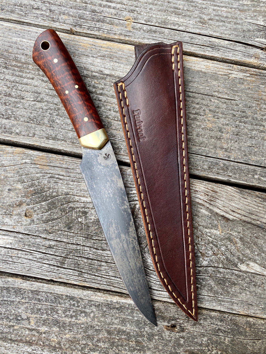Long Hunter Knife — Snakewood & Brass