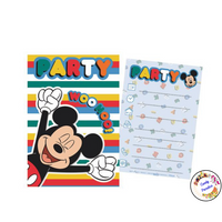 5 cartes d'invitation Disney - Candy Paradise