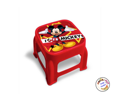 Tabouret/marche pied Mickey rouge - Candy Paradise