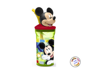 Verre paille 3D Mickey - Candy Paradise
