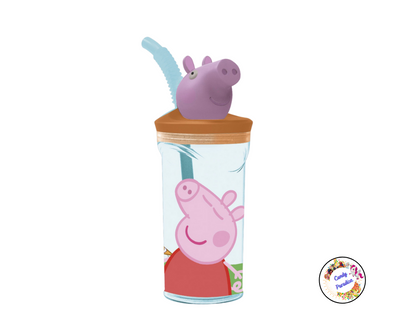 Verre paille 3D Peppa Pig - Candy Paradise