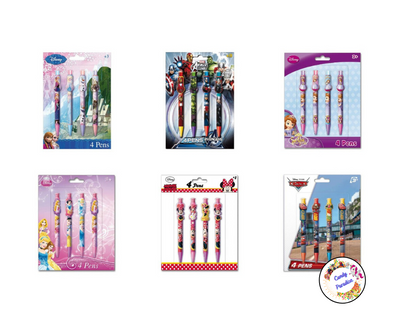 Lot de 4 Stylos Disney - Candy Paradise