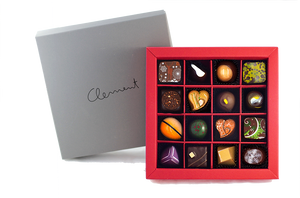 16 Pralinen – Wintermischung - Clement Chococult