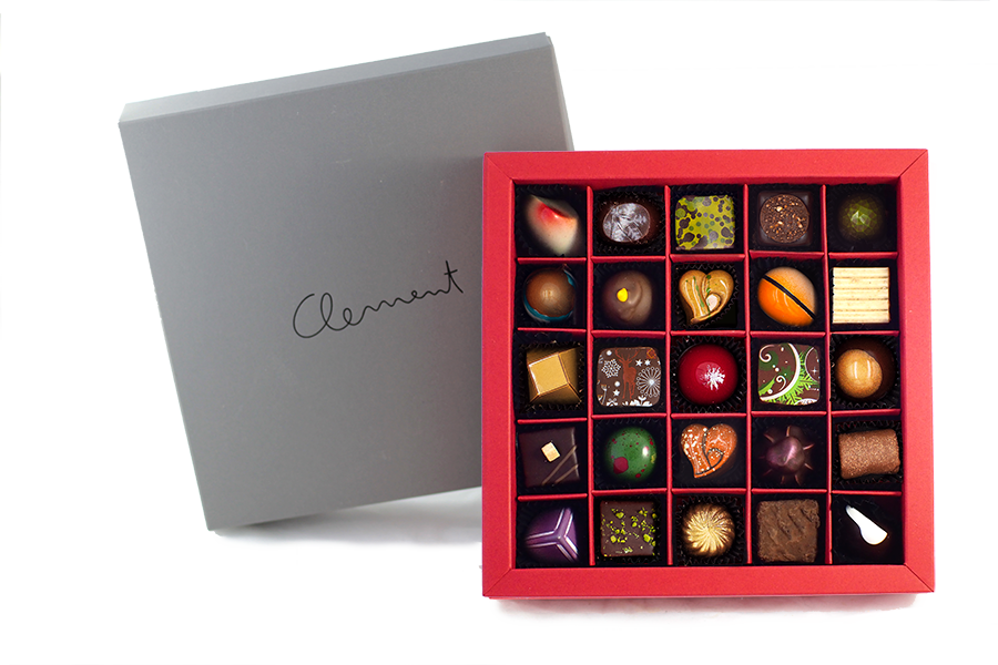 25 Pralinen – Wintermischung - Clement Chococult
