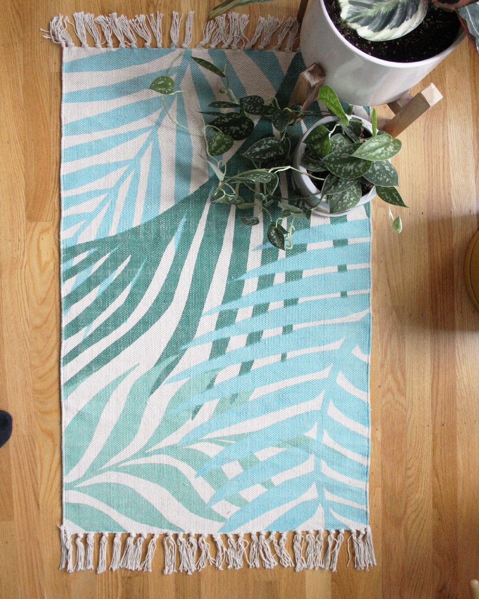 Handwoven Palm Rug - 2'x3' - Green Philosophy Co.