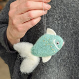 Fish Christmas Ornament - Felted