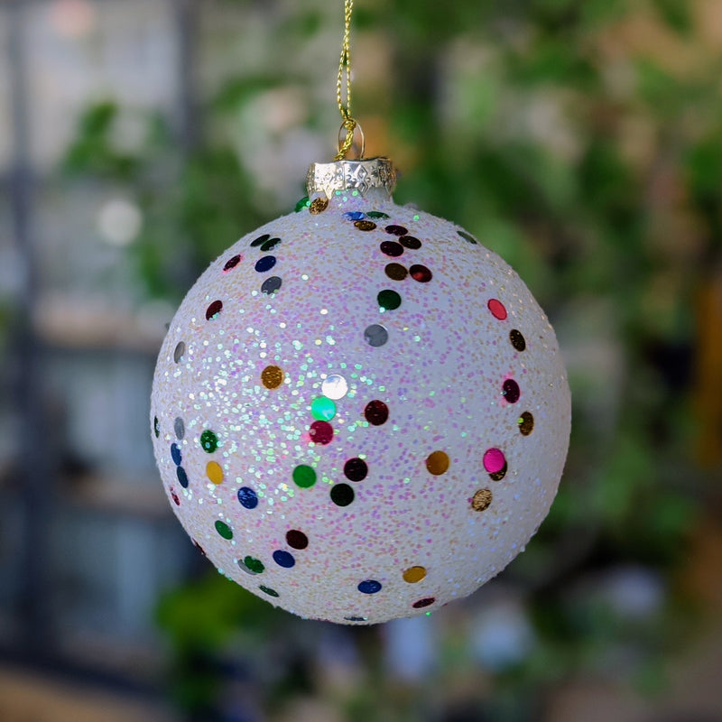 Glitter Glass Balls Hanging Ornament