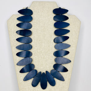 Necklaces - Navy Beads