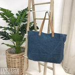 Jute Market Bag - Denim