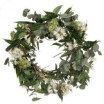 Christmas Wreath: Cream Bottlebrush and Eucalyptus