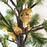 Cutout Scene Ornament Set - Gold