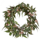 Christmas Wreath: Flowering Pink Eucalyptus