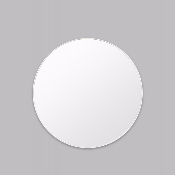 Round Mirror - White Frame - contemporary classic
