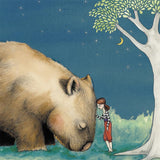 Girl's Giant Wombat Friend  Greeting Card