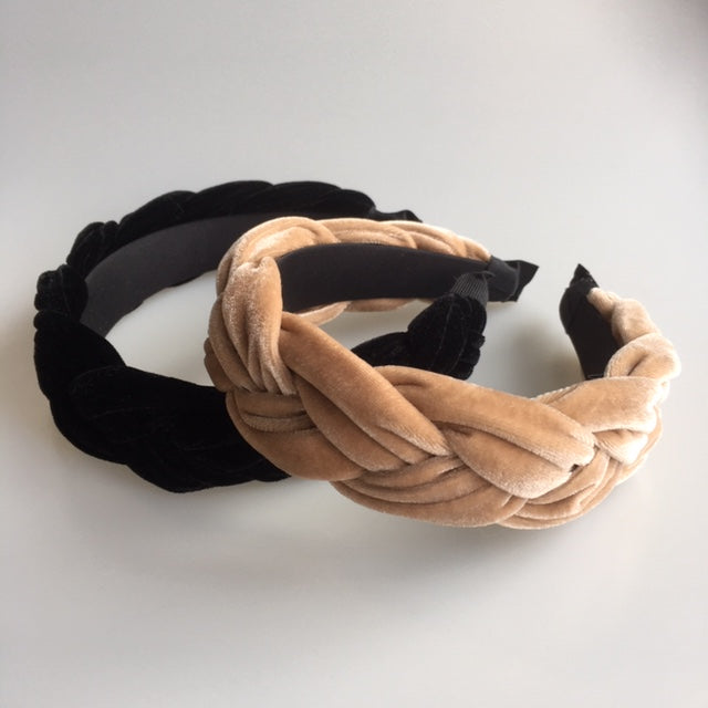 Headband - Plaited Velvet