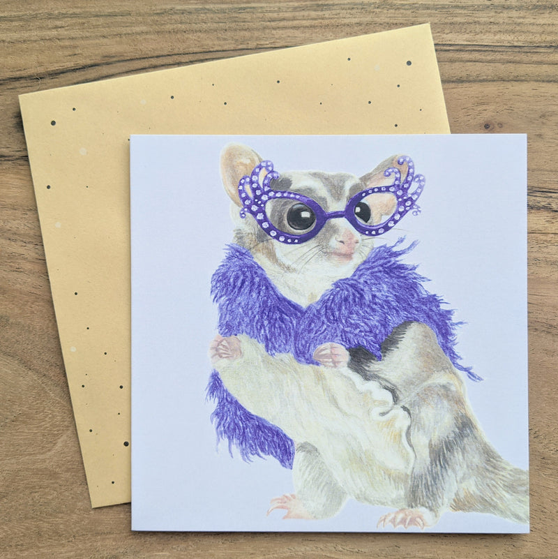 Hello Possums Greeting Card
