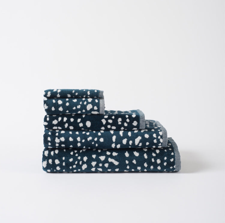 100% Cotton Towel Range - Velour Dot