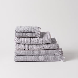 100% Cotton Jacquard Towel Set - Ash