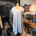 Italian Linen Dress - Light Grey