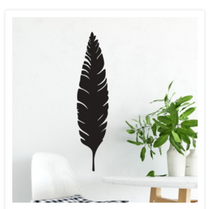 Leaf/Feather Metal Wall Hanging