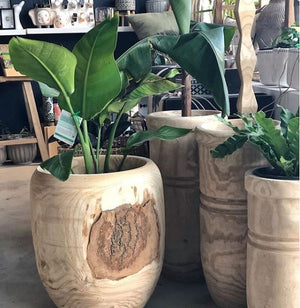 Wooden Skinny Lauder Planters