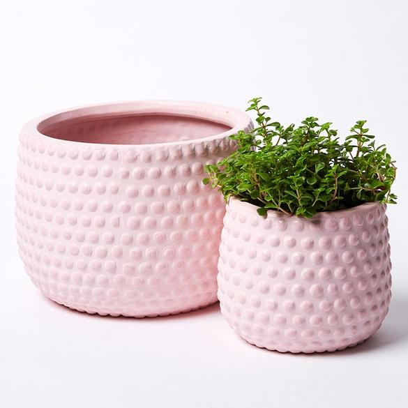 Hobnail Planters - Grey, Black, Mustard or Musk