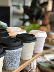 Ceramic Reusable Coffee Tea Cup SOLD OUT BACK SOON